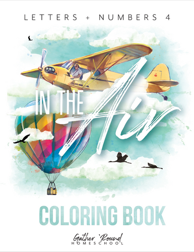 Letters + Numbers 4: In the Air Coloring Book (HARD COPY)