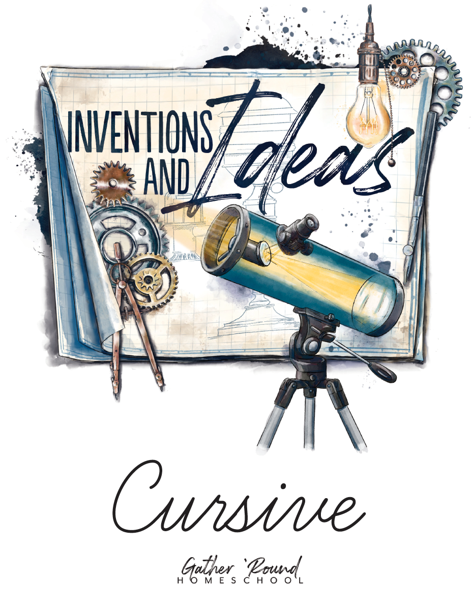 Inventions and Ideas Cursive Writing Notebook (HARD COPY)