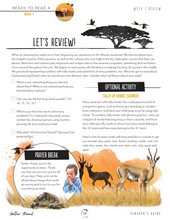 Load image into Gallery viewer, Ready to Read 4: On the Savanna Teacher's Guide (HARD COPY)