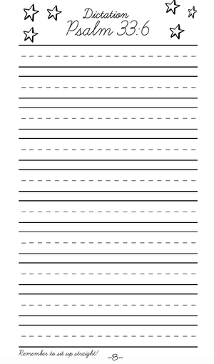Space Cursive Writing Notebook INSERT (DIGITAL)