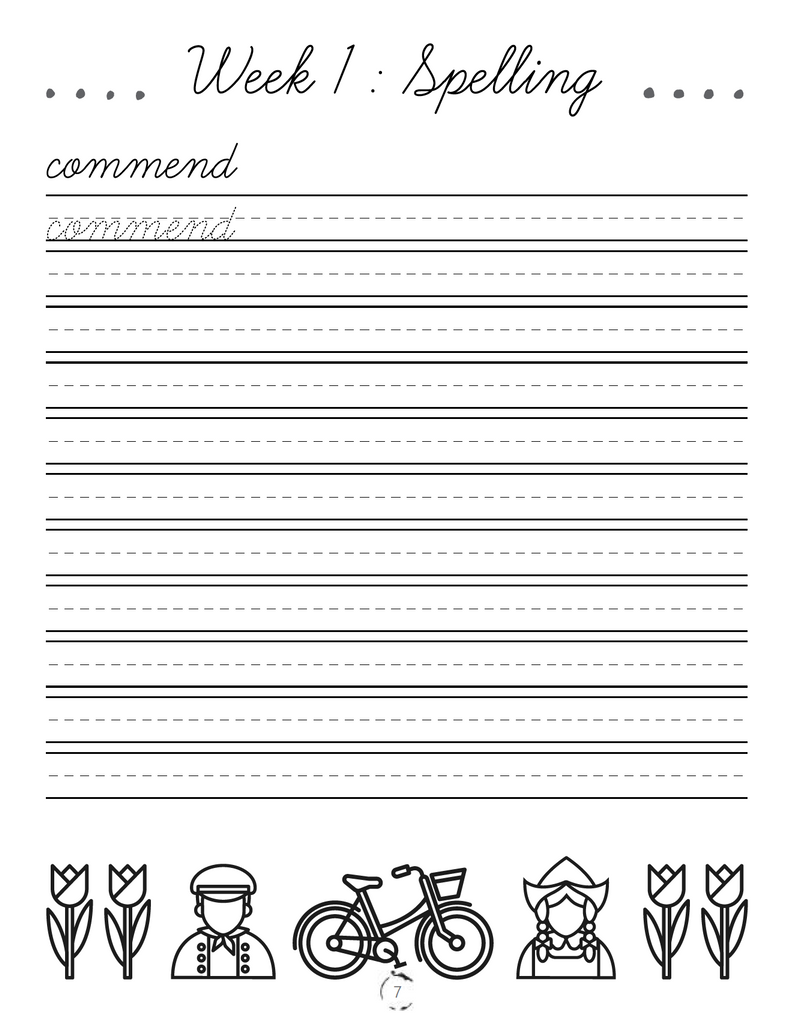 Europe Cursive Writing Book (DIGITAL)