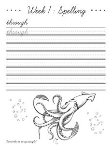 Oceans Cursive Writing Notebook (HARD COPY)