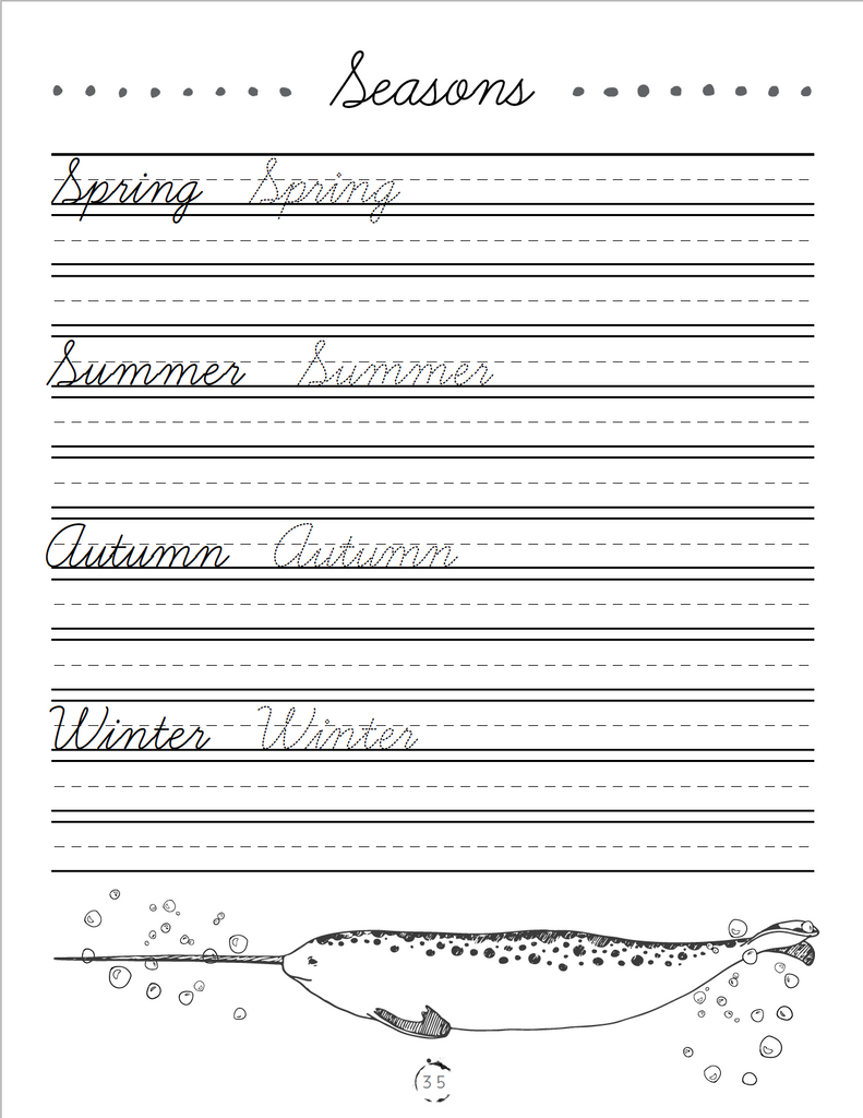 Oceans Cursive Writing Book (HARD COPY)