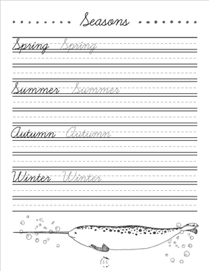 Oceans Cursive Writing Book (DIGITAL)