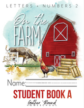 Load image into Gallery viewer, Letters + Numbers 2: At the Farm Student Notebooks A+B (HARD COPY)