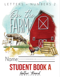 Letters + Numbers 2: At the Farm Student Notebooks A+B (HARD COPY)