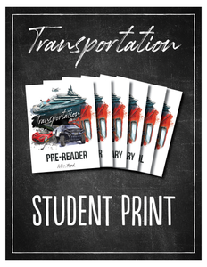 Transportation Student Notebook (Hard Copy)
