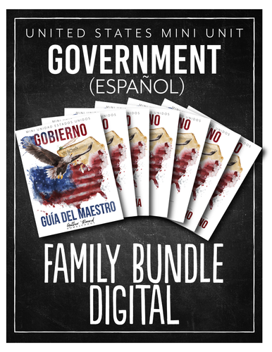 US Government Spanish Full Family Bundle (Digital)