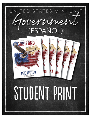 US Government Spanish Student (HARD COPY)
