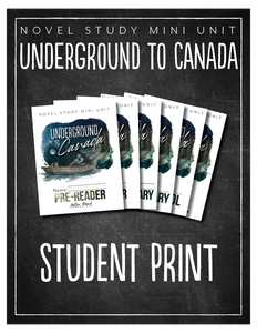 Underground to Canada Student Notebook (HARD COPY)