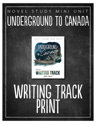Underground to Canada Writing Track (Hard Copy)