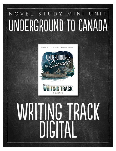 Underground to Canada Writing Track (Digital)