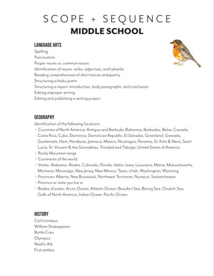 North American Birds Student Notebooks (HARD COPY)