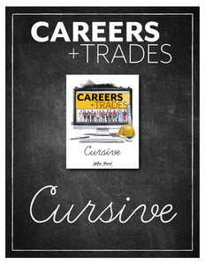 Careers and Trades Cursive Writing Notebook (HARD COPY)