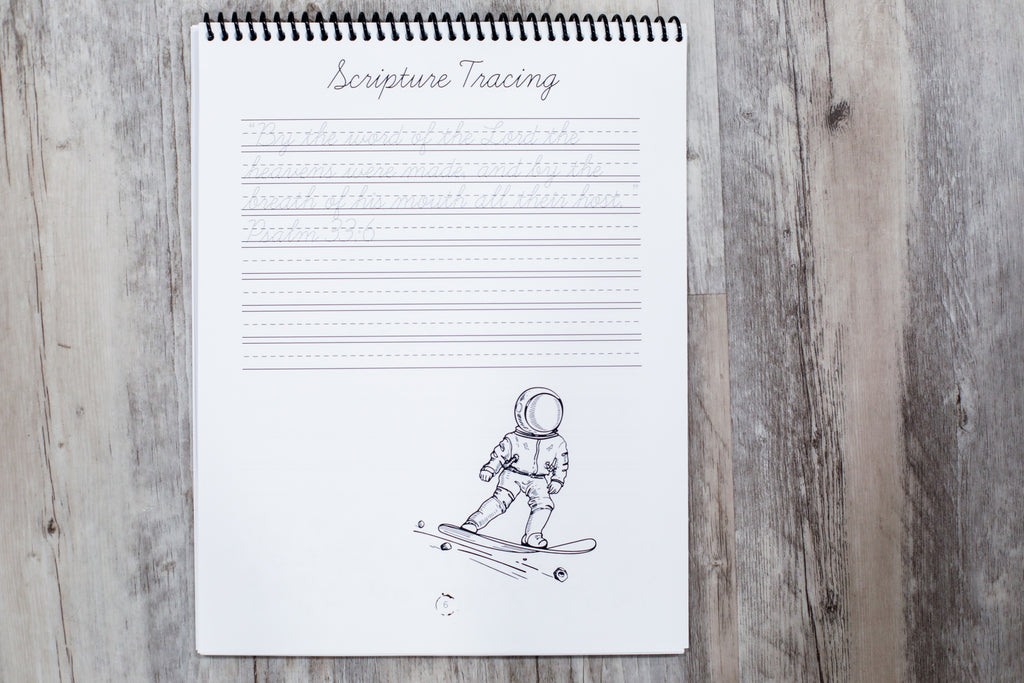 Space Cursive Writing Book (HARD COPY)
