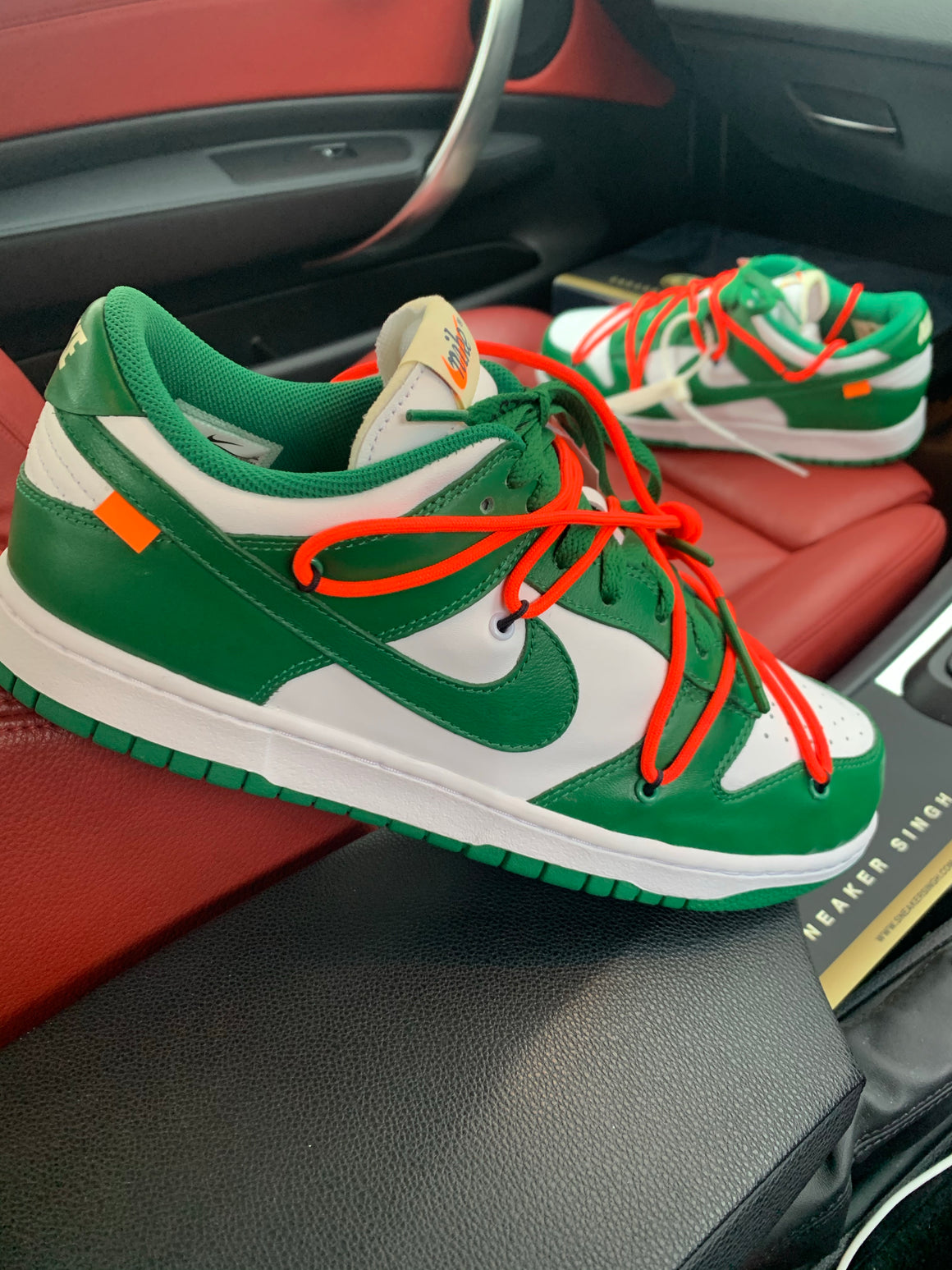 NIKE DUNK LOW X OFF WHITE 'PINE GREEN'
