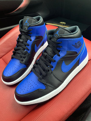 NIKE AIR JORDAN 1 MID 'HYPER ROYAL BLUE'