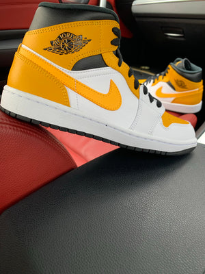 NIKE AIR JORDAN 1 MID 'UNIVERSITY GOLD'