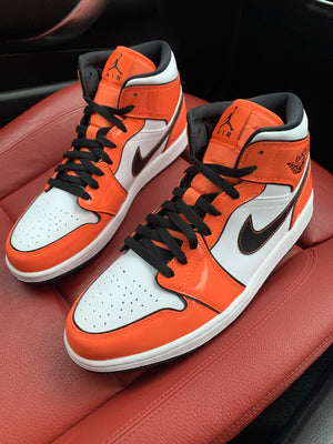 NIKE AIR JORDAN 1 MID 'TURF ORANGE'