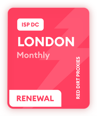 **READ DESCRIPTION** *MONTHLY RENEWAL* LONDON MONTHLY DC ISP PROXIES