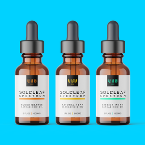 Goldleaf Spektrum Tri Pack 600mg CBD Oil Tincture Drops