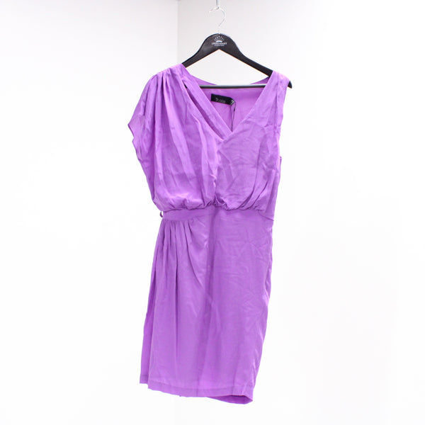 TRUESE F XS/8 Silk Pablo Dress Violet #405