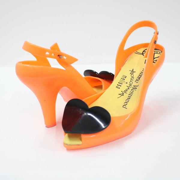 Vivienne Westwood Anglomania + Melissa Rubber Heart Heels Orange Yellow #908