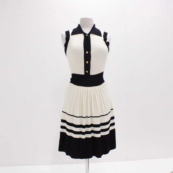 "ALANNAH HILL Womens Size S ""Cover Me with Love"" Frock Black and White #405"