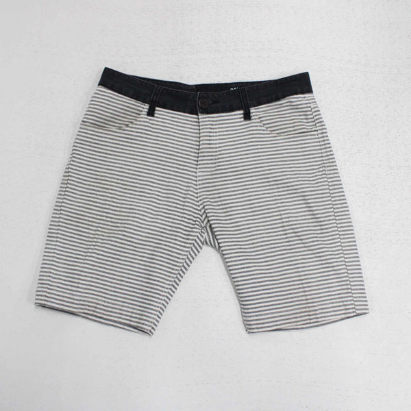 Quiksilver Mens Cotton Shorts Size 30 Navy White Stripe #410