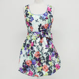 VIVIENNE FRANCINE Womens Cocktail Dress Size 10 Floral Cotton Blend #405