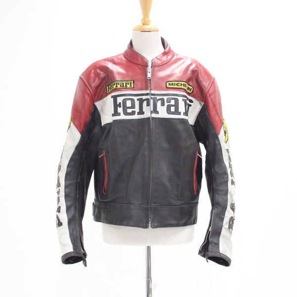 Ferrari Size XXL Retro Leather Jacket 137cm Chest #206