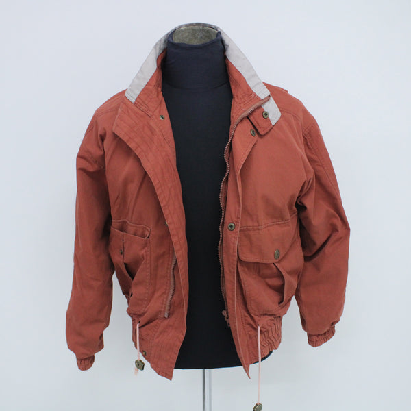 Vintage McGregor Jacket Rust Colour Coat with Utility Pockets Size M #129