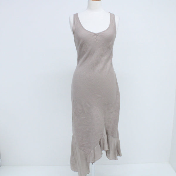 Promod Beige Linen Mix Midi Sleeveless Dress #129