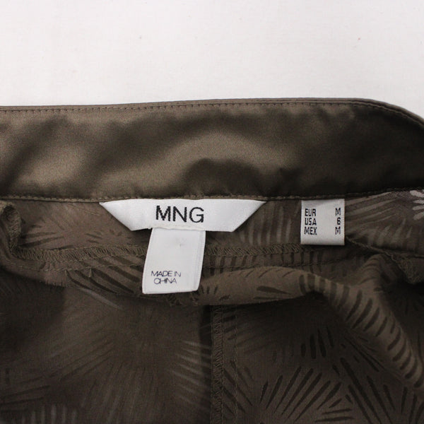 MANGO MNG See-Through Khaki Brown Women Lingerie Slip Top - Size M #405