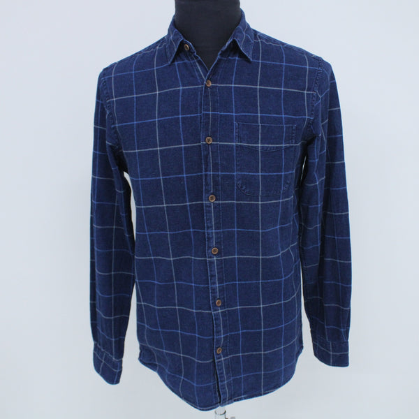 COUNTRY ROAD Blue Long Sleeved Collared Shirt XS Men's #129