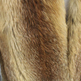 Vintage Ladies Mottled Fully Lined Caramel Brown Grey Fur Short Fur Jacket #404