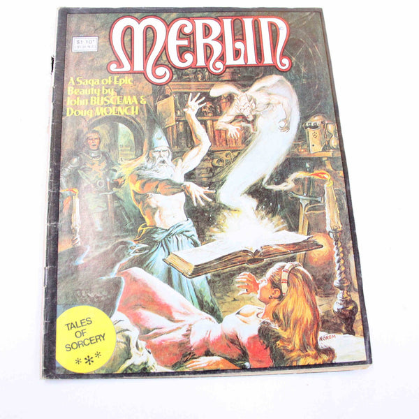 Comic Book Merlin issue no.22 By John Buscema MARVEL 1980 #15774
