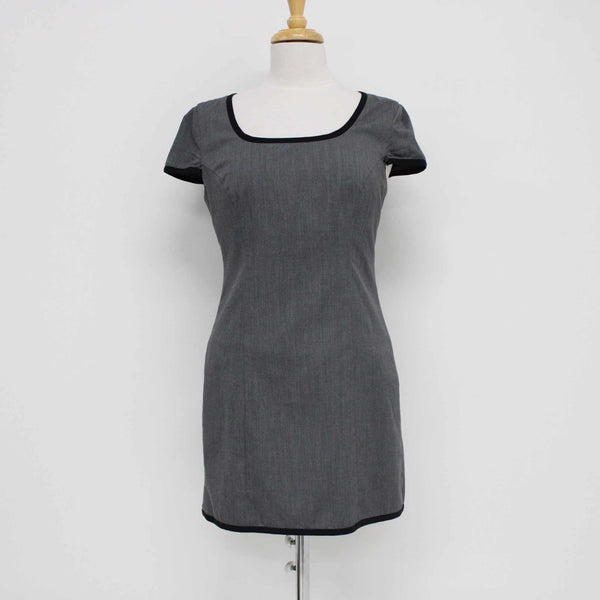 Tokito City Womens Elegant Scoop Neck Dress Grey Work Formal Size 10 #410