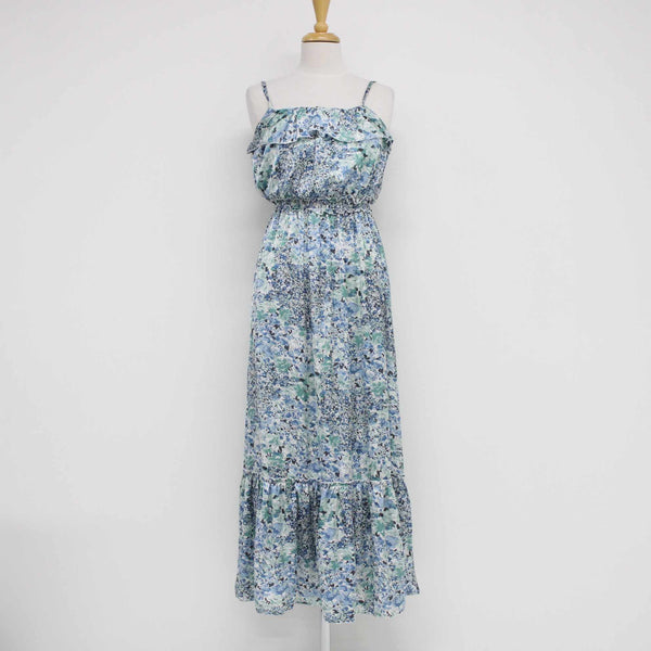 EMERGE Womens Ladies Flowing Summer Maxi Dress Blue Floral Blue Size 8 #410