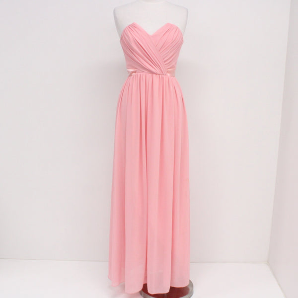 SOCIALIGHT Womens Size 8 Strapless Soft Pink Evening Gown BNWT #405