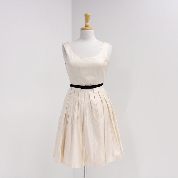 FOREVER NEW - Female Size 8 - Pleated Dress Cream BNWT #405