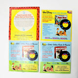 4 Little Golden Books and Records Disneyland Records #305