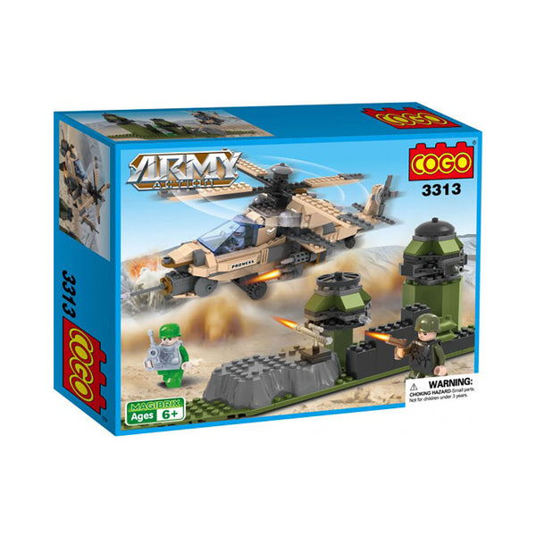 COGO MAGIBRIX 3313 Watch Post Army Action Building Blocks Bricks 360 Pieces #710