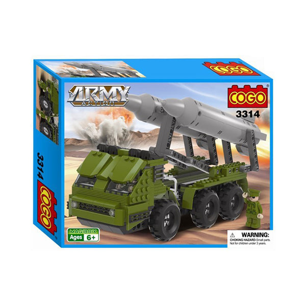 COGO MAGIBRIX 3314 Missile Launcher Army Action Building Blocks Bricks #710