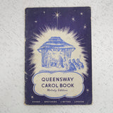 Vintage Queensway Carol Book Melody Edition 1955 Evans Brothers Limited #405