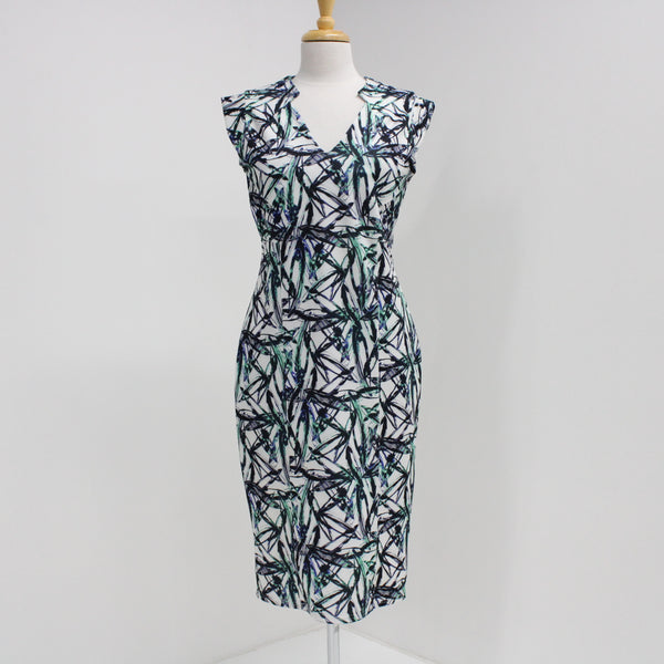 Pied A Terre Ladies Womens Sleeveless Patterned Midi Dress Size 12 #403