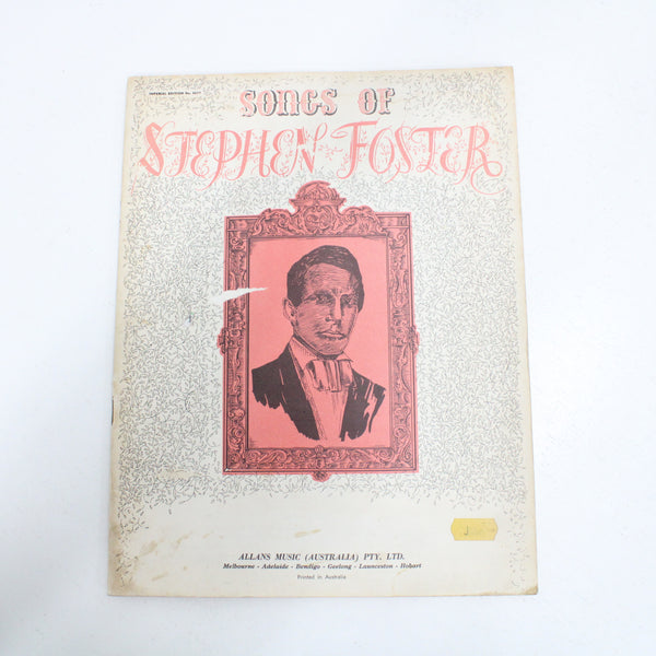 Songs of Stephen Foster Music & Words Book Allans Music #458