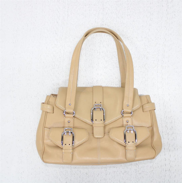 Cole Haan Alexa SP05 Tan Light Brown Medium Leather Handbag Satchel #908