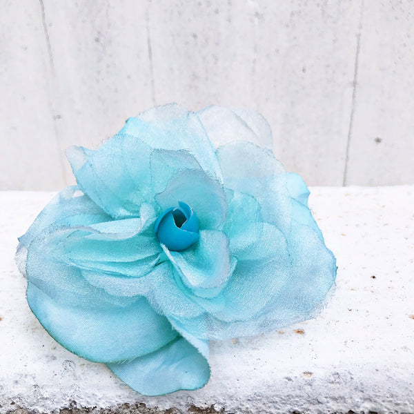 Floral Brooch Blue Green Accessory Carrie Bradshaw Curated by Faye #129