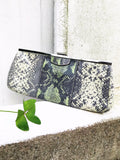 BANANA REPUBLIC Clutch Purse Snake Skin Print Mint Green Curated by Faye #129
